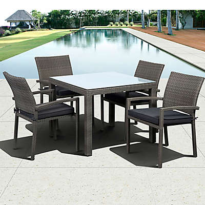 Atlantic Liberty 5-Piece Outdoor Square dining Set in Grey