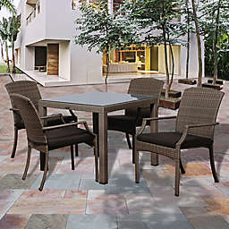 Atlantic Rolland 5-Piece Outdoor 35-Inch Square Dining Set