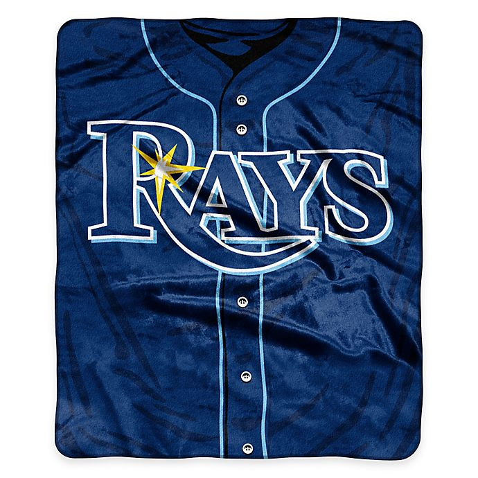 Alternate image 1 for MLB Tampa Bay Rays Jersey Raschel Throw Blanket