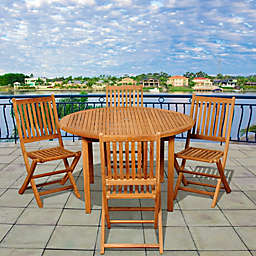 Amazonia Adam 5-Piece Round Patio Set
