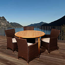 Amazonia Benjamin 5-Piece Round Patio Set