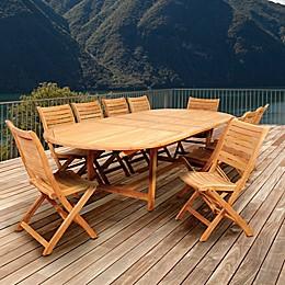Amazonia Savona 11-Piece Double-Extendable Outdoor Dining Set
