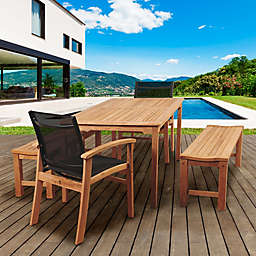 Amazonia Walnut 5-Piece Rectangular Patio Set