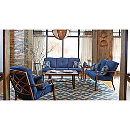 Trisha Yearwood Home Collection 5-Piece Conversation Set in Denim Demo