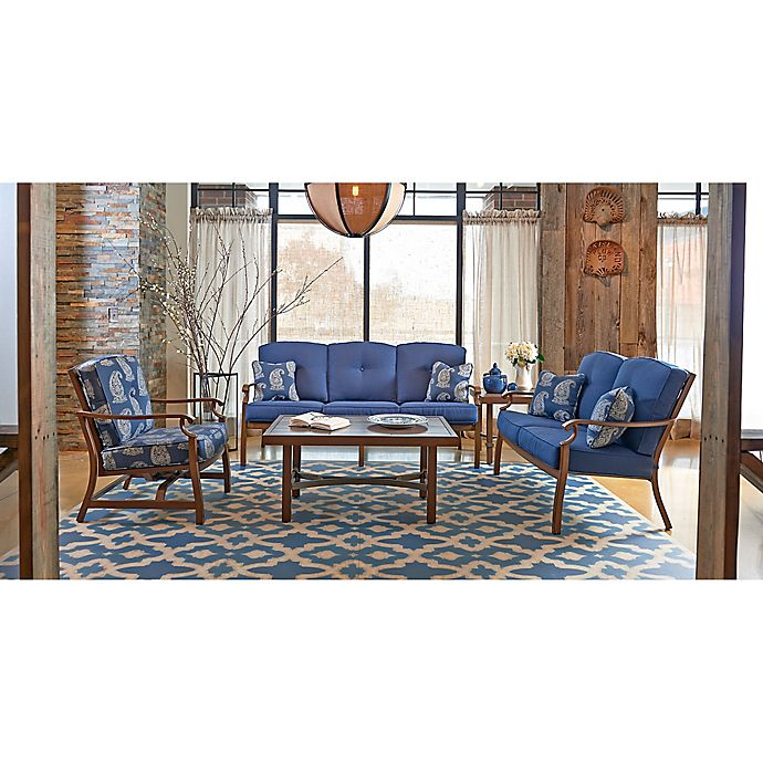 Alternate image 1 for Trisha Yearwood Demo 5-Piece Outdoor Conversation Set in Blue