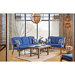 Trisha Yearwood Home Collection 4-Piece Conversation Set in Denim Demo