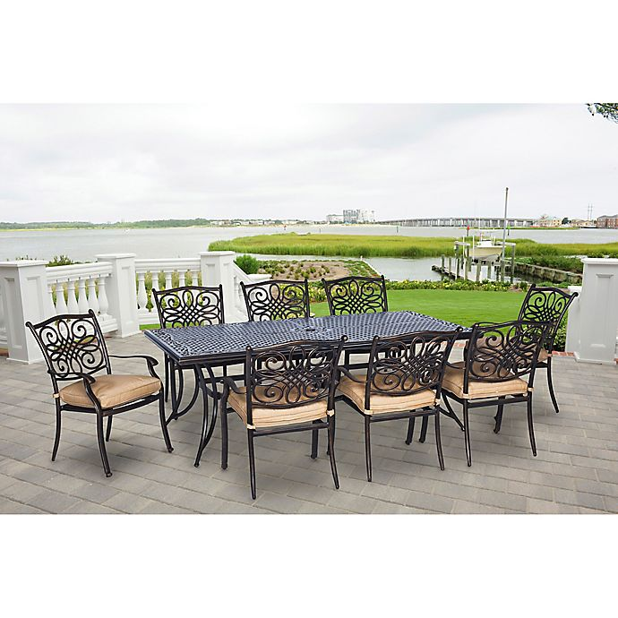 Alternate image 1 for Hanover Traditions 9-Piece Patio Set