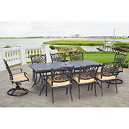 Hanover Traditions 9-Piece Outdoor Dining Set
