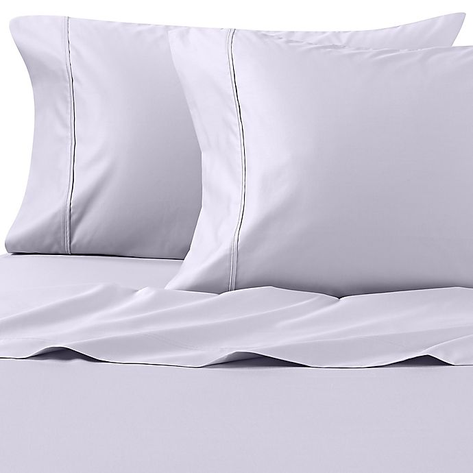 Alternate image 1 for Wamsutta® PimaCott® Solid 625-Thread-Count King Pillowcase Set in Light Blue