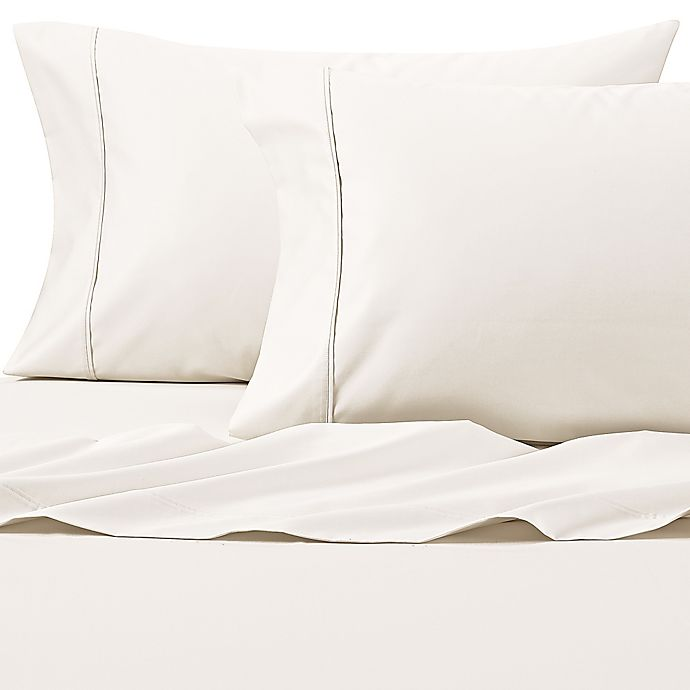 Alternate image 1 for Wamsutta® PimaCott® Solid 625-Thread-Count Twin Sheet Set in Ivory