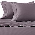 Wamsutta® 625-Thread Count PimaCott® Herringbone Stripe Queen Sheet Set in Taupe