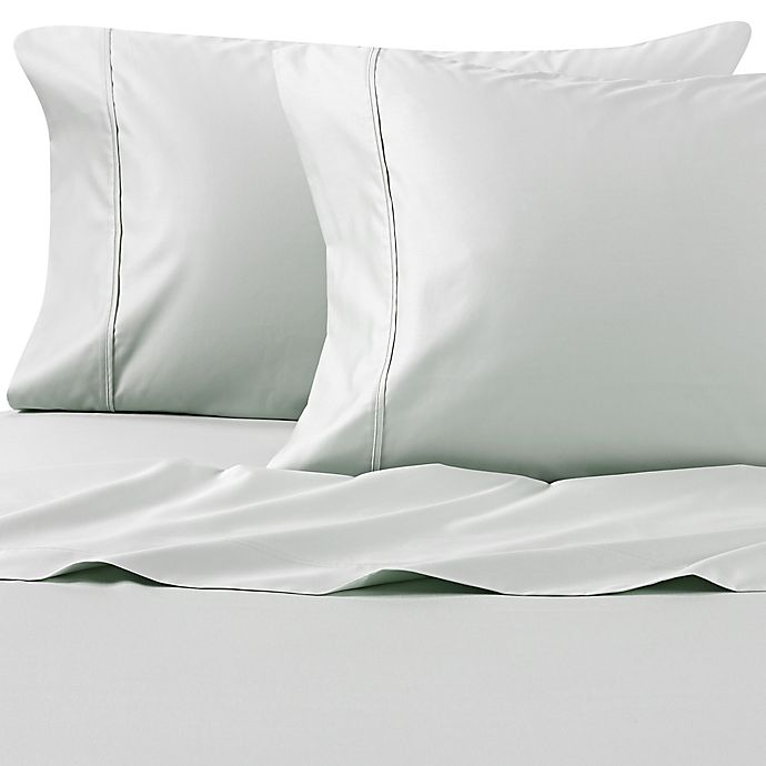 Alternate image 1 for Wamsutta® PimaCott® Solid 625-Thread-Count King Pillowcase Set in Mint