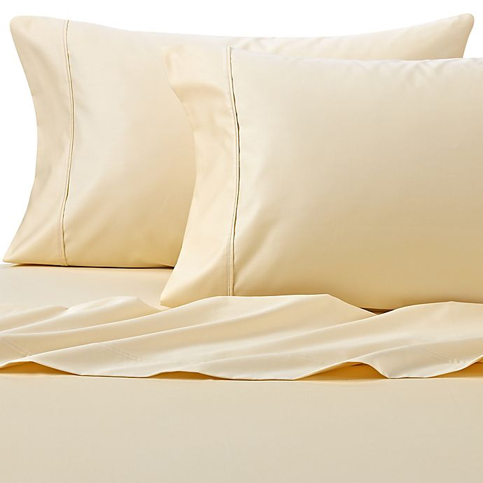 Alternate image 1 for Wamsutta® PimaCott® Solid 625-Thread-Count California King Sheet Set in Yellow