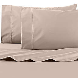 Wamsutta® PimaCott® Solid 625-Thread-Count King Pillowcase Set in Taupe
