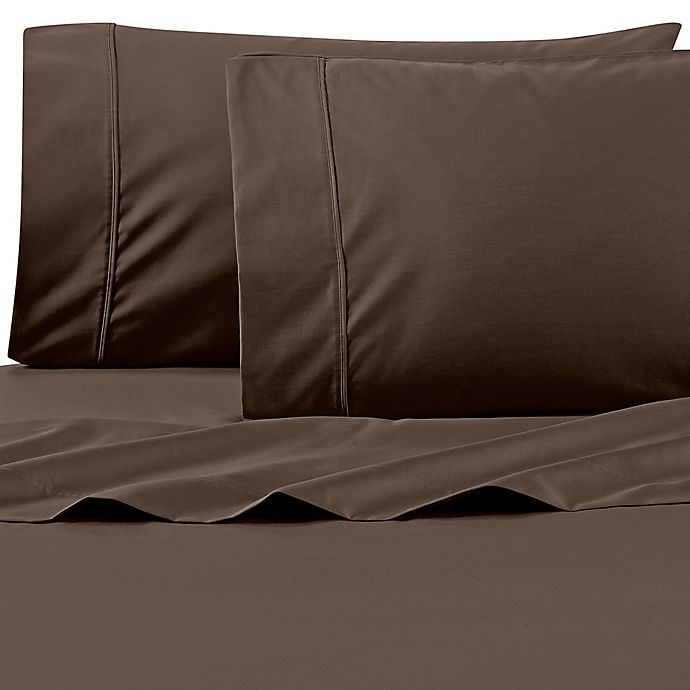 Alternate image 1 for Wamsutta® 625-Thread Count PimaCott® California King Sheet Set in Chocolate
