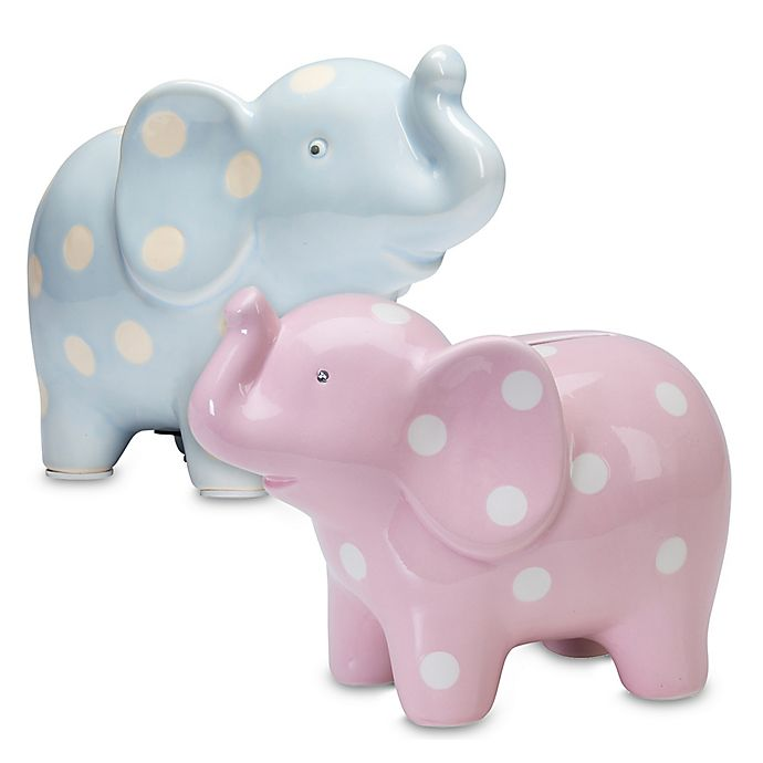 Alternate image 1 for Elegant Baby® Ceramic Elephant Piggy Bank