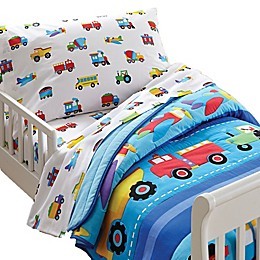 Olive Kids Trains, Planes, Trucks Toddler Sheet Set