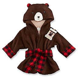 Baby Aspen Newborn-9M Beary Bundled Hooded Robe in Brown/Red