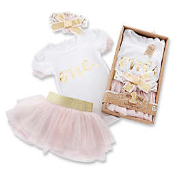 Baby Aspen 12-18M My First Birthday 3-Piece Tutu Outfit in Pink