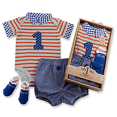 Baby Aspen First Birthday Size 12-18M 3-Piece Dapper Dude Outfit in Navy