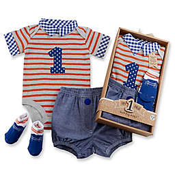 Baby Aspen First Birthday Size 12 18M 3 Piece Dapper Dude Outfit In Navy