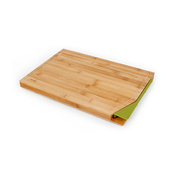 Alternate image 1 for Neoflam® Cut2tray™ 18-Inch Bamboo Cutting Station in Green