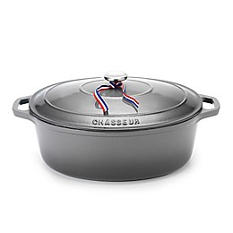 Chasseur® Cast Iron Round Dutch Oven in Grey