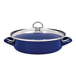Chantal® 3 qt. Enamel-on-Steel Saute Pan with Glass Lid