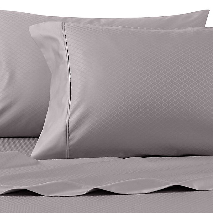 Alternate image 1 for Wamsutta® 625-Thread Count PimaCott® Diamond Standard Pillowcases in Charcoal (Set of 2)