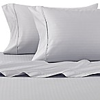 Wamsutta® 625-Thread Count PimaCott® Herringbone Stripe King Sheet Set in Light Blue