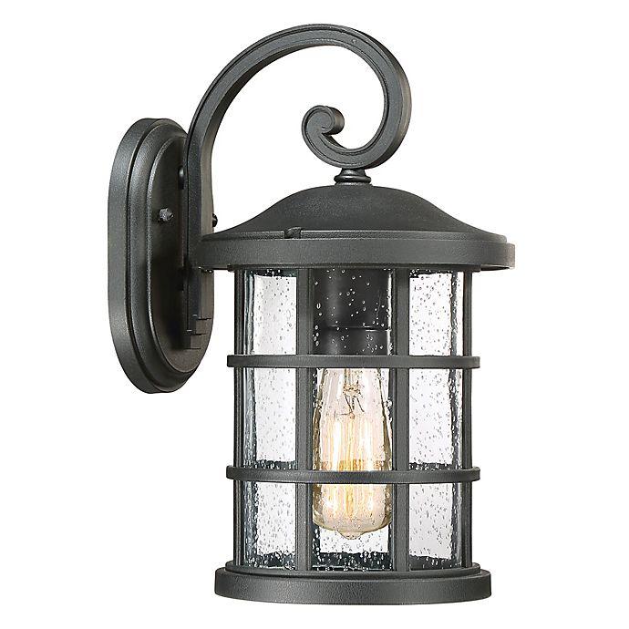 Alternate image 1 for Quoizel® Crusade Medium Wall-Mount Outdoor Lantern in Earth Black