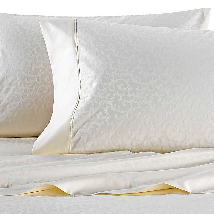 Alternate image 1 for Wamsutta® 625-Thread Count PimaCott® Scroll Queen Sheet Set in Ivory