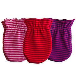 Sozo® Girls' 3-Pack Striped Scratch Free Mittens