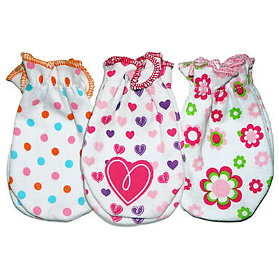 Sozo® Girls' 3-Pack Assorted Prints Scratch Free Mittens