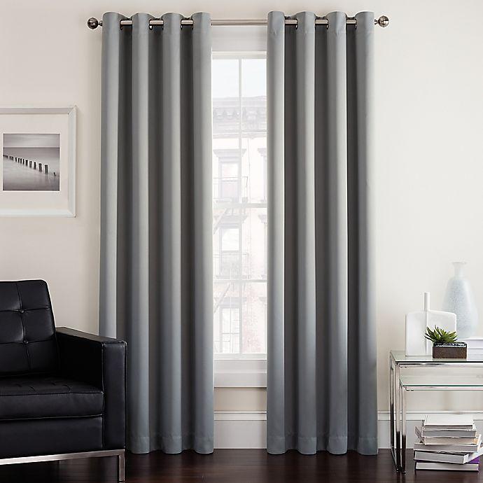 Alternate image 1 for Twilight 95-Inch Room Darkening Grommet Window Curtain Panel in Grey