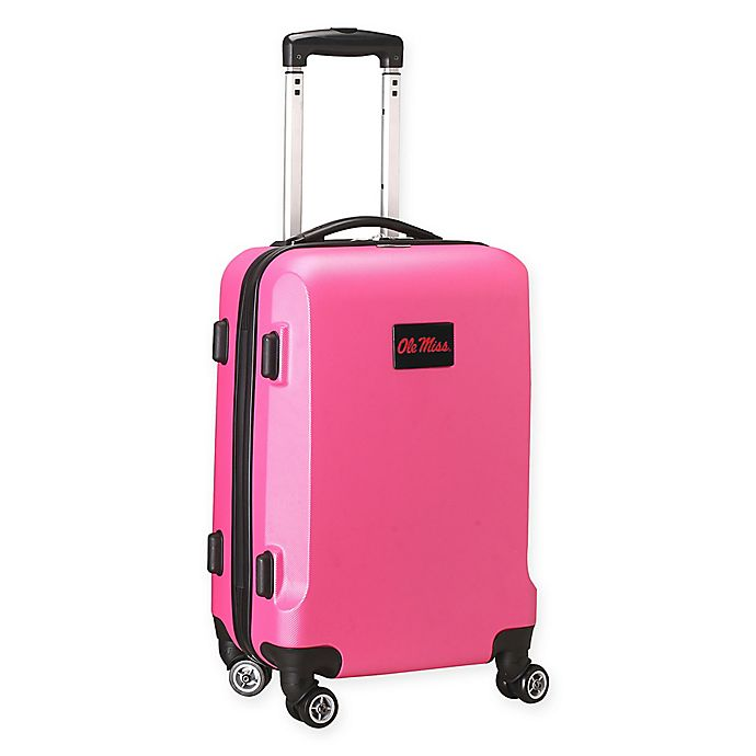 Alternate image 1 for University Of Mississippi 20-Inch Hardside Carry On Spinner in Pink