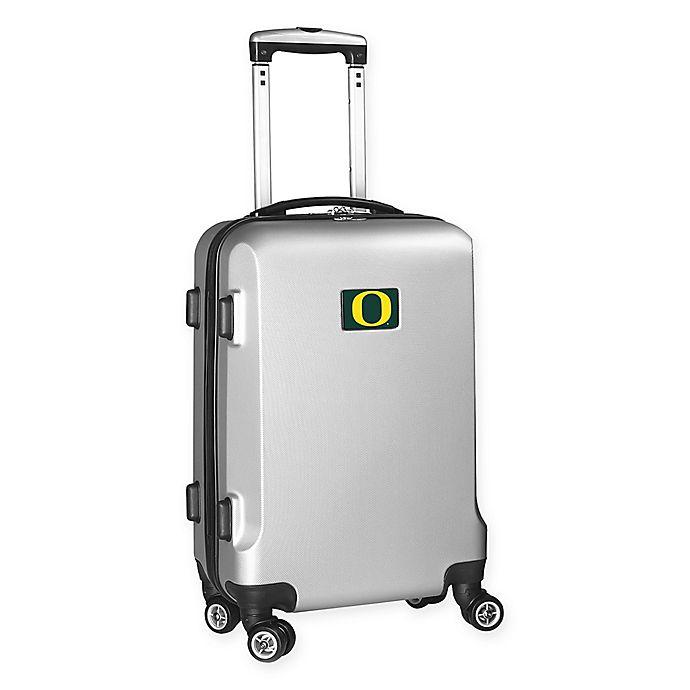 Alternate image 1 for University of Oregon 20-Inch Hardside Carry On Spinner in Silver