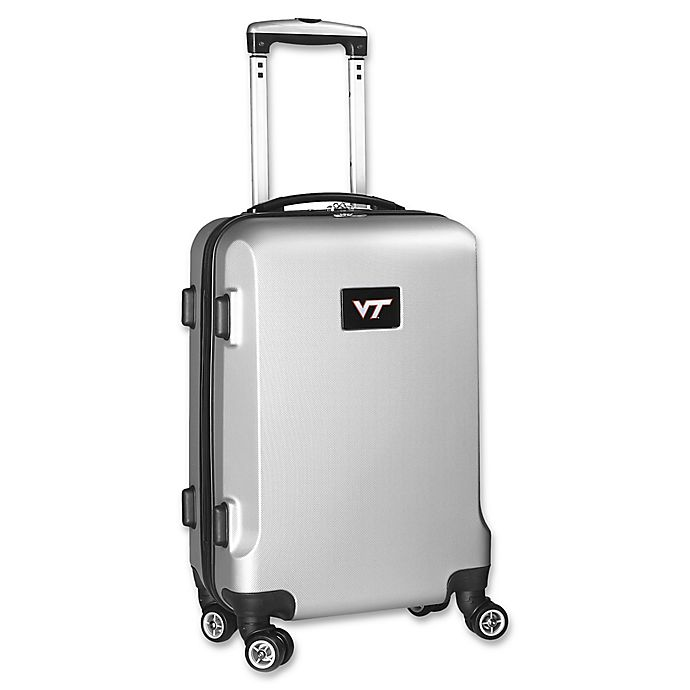 Alternate image 1 for Virginia Tech 20-Inch Hardside Carry On Spinner in Silver