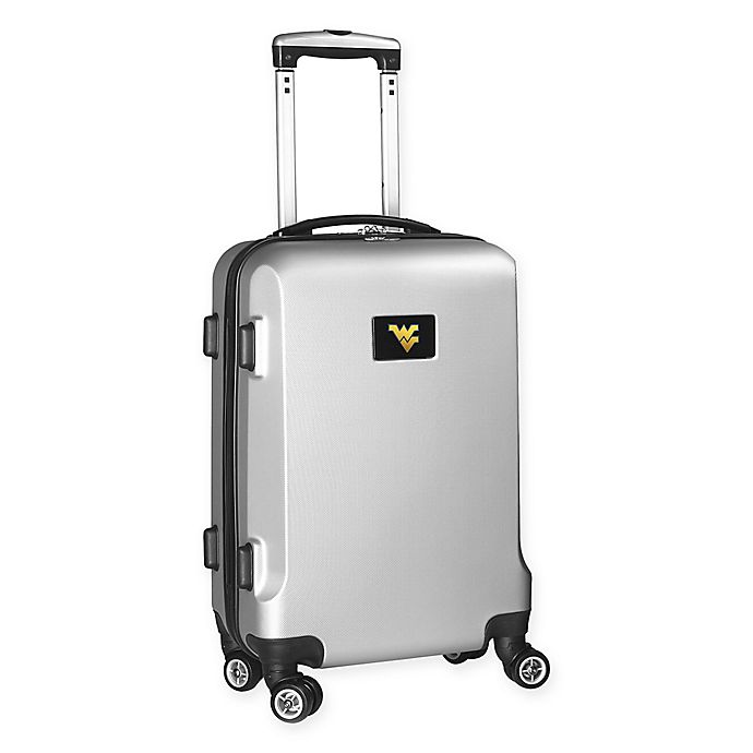 Alternate image 1 for West Virginia University 20-Inch Hardside Carry On Spinner in Silver