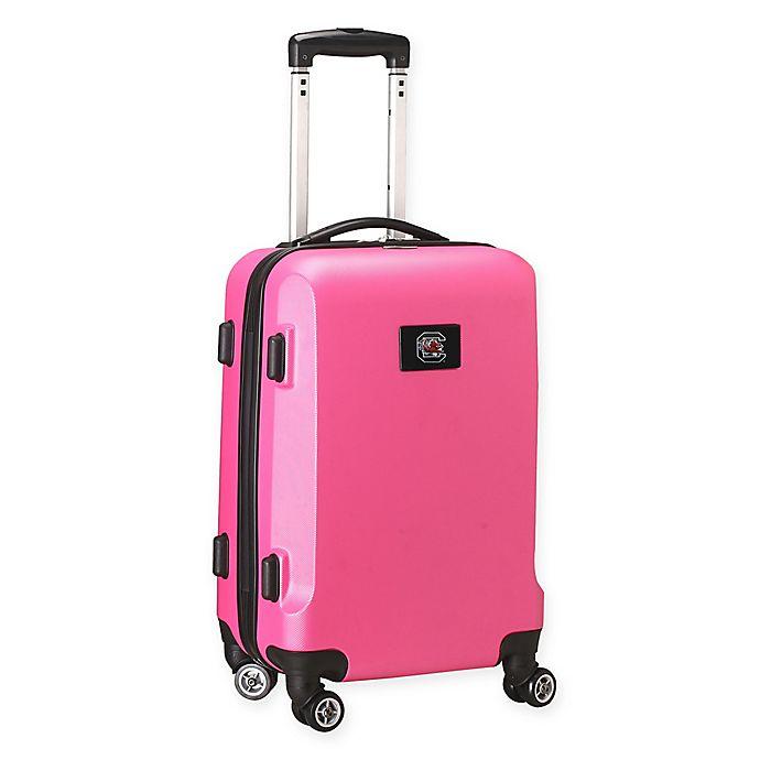 Alternate image 1 for University of South Carolina 20-Inch Hardside Carry On Spinner in Pink