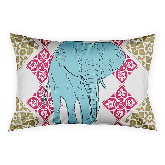 Alternate image 1 for Boho Elephant Tile Pillow Sham