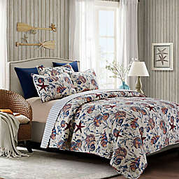 By The Sea Shore South Seas Quilt Set in Blue