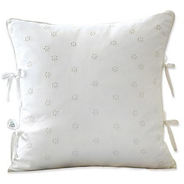 Sanderson Amelia Rose Snowbell Eyelet Throw Pillow in Ivory