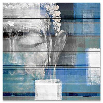 """Parvez Taj """"Blue Buddha"""" Wood Wall Art"""