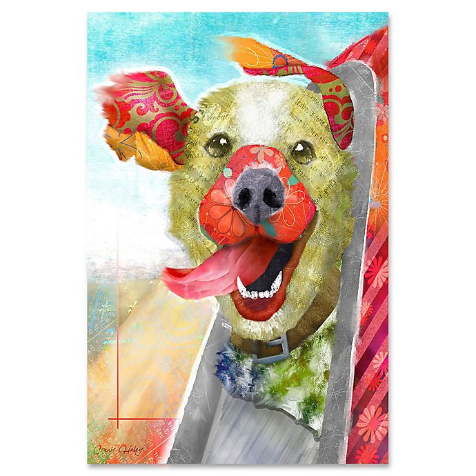 Alternate image 1 for Marmont Hill Breezy Dog II 20-Inch x 30-Inch Canvas Wall Art
