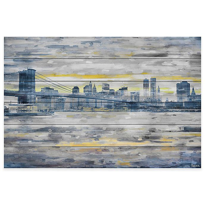 Alternate image 1 for Parvez Taj From Across the Water 36-Inch x 24-Inch Pinewood Wall Art