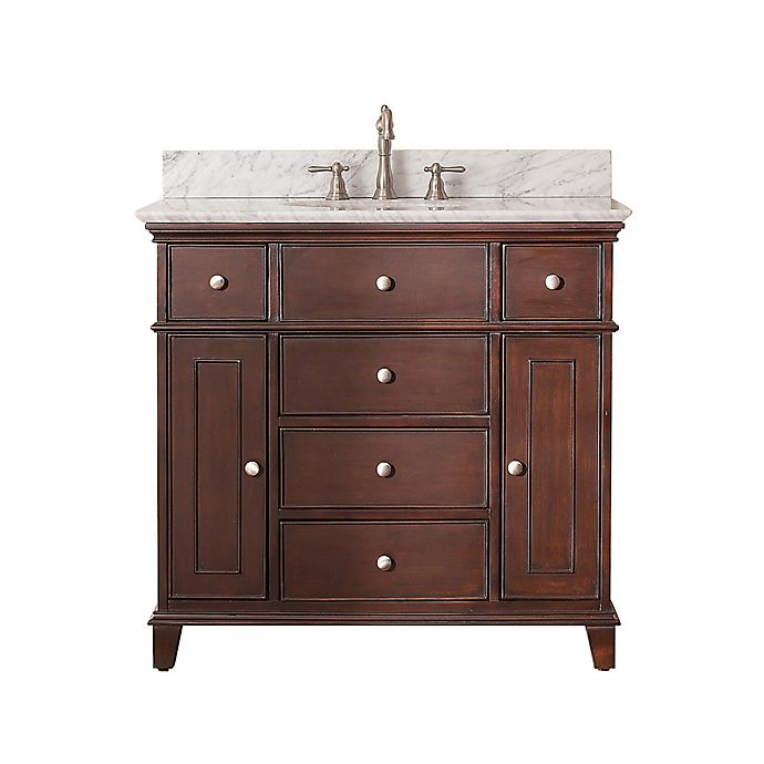 Avanity Windsor 37-Inch Single Vanity with White Marble ...