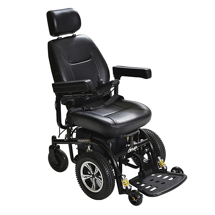 Alternate image 1 for Drive Medical Trident Front-Wheel Drive Power Wheelchair with 18-Inch Seat