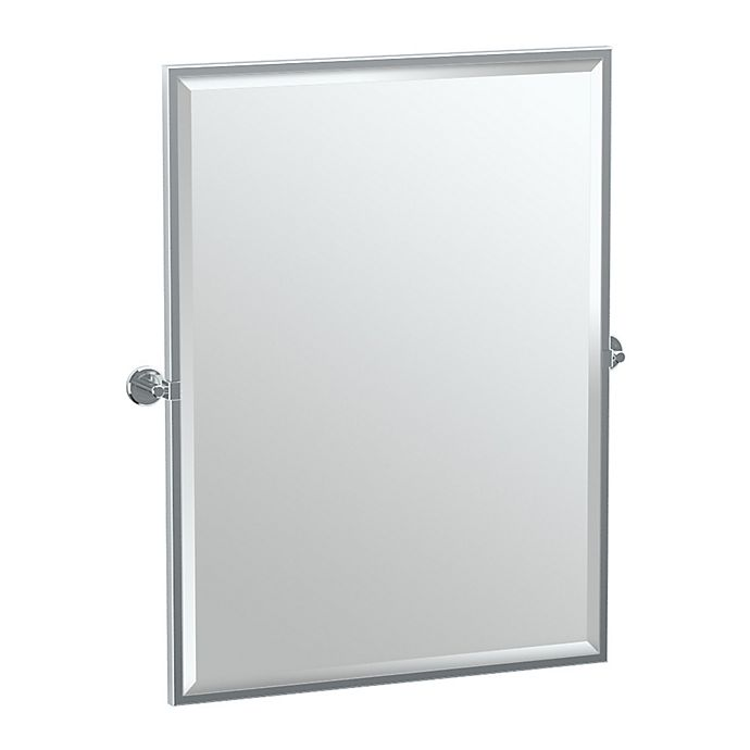 Alternate image 1 for Gatco® Latitude II 25-Inch x 25-Inch Rectangular Framed Mirror in Chrome
