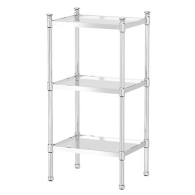 Gatco Taboret 3 Tier Glass And Metal Shelving Unit Bed